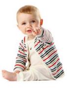 出産祝いにベビー服をruaで ゴージャスストライプ